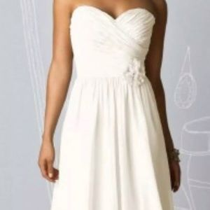 After Six strapless bridesmaid prom dress